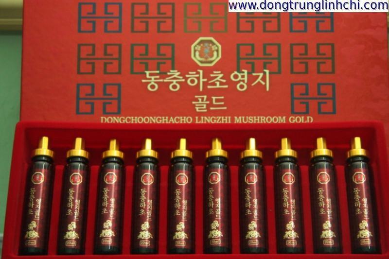 Sản phẩm Nước Đông Trùng Hạ Thảo Linh Chi Hàn Quốc hộp giấy 20 ống lọ 20ml- Hình 2