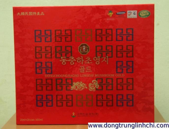 Sản phẩm Nước Đông Trùng Hạ Thảo Linh Chi Hàn Quốc hộp giấy 20 ống lọ 20ml- Hình 5