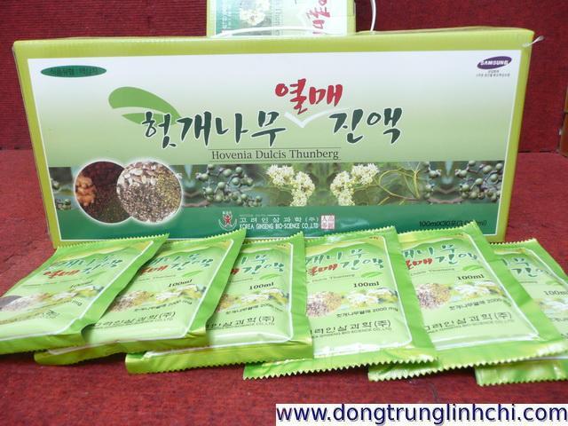 Hộp và túi-gói nước mát gan- giải rượu- bổ gan Hovenia-Hàn Quốc