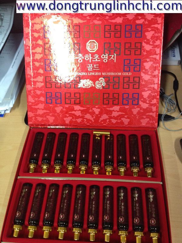 Sản phẩm Nước Đông Trùng Hạ Thảo Linh Chi Hàn Quốc hộp giấy 20 ống lọ 20ml- Hình 1