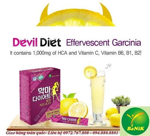 thuốc giảm cân, giảm cân, thuốc giảm cân Hàn Quốc, garcinia, HCA, Devil Diet Effervescent Garcinia