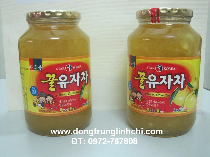 Hình ảnh Lọ 1kg mật ong chanh vàng Hàn Quốc nhìn ngon miệng, đẹp mắt