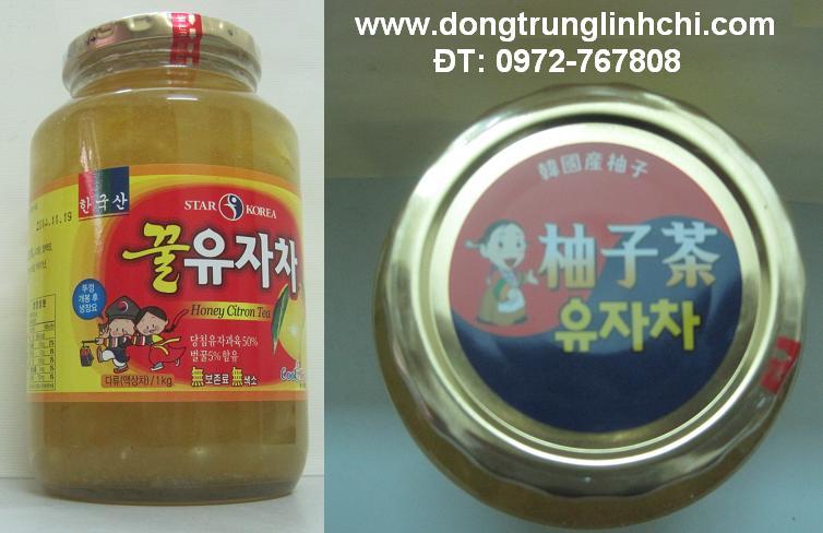 Hình ảnh Lọ mật ong chanh Hàn Quốc 1kg- trà chanh chữa ho hiệu quả