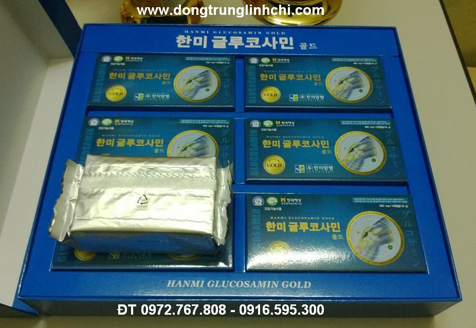6 hộp glucosamine 600mg x30 viên Hàn Quốc- Hanmi Glucosamin Gold