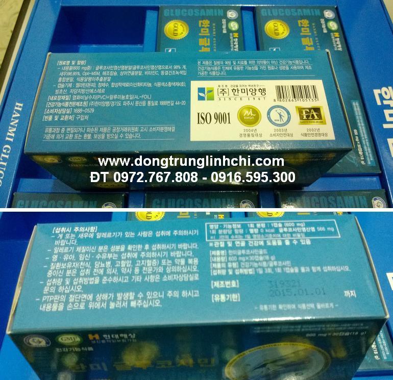 Hộp 30 viên Glucosamine 600mg Hàn Quốc