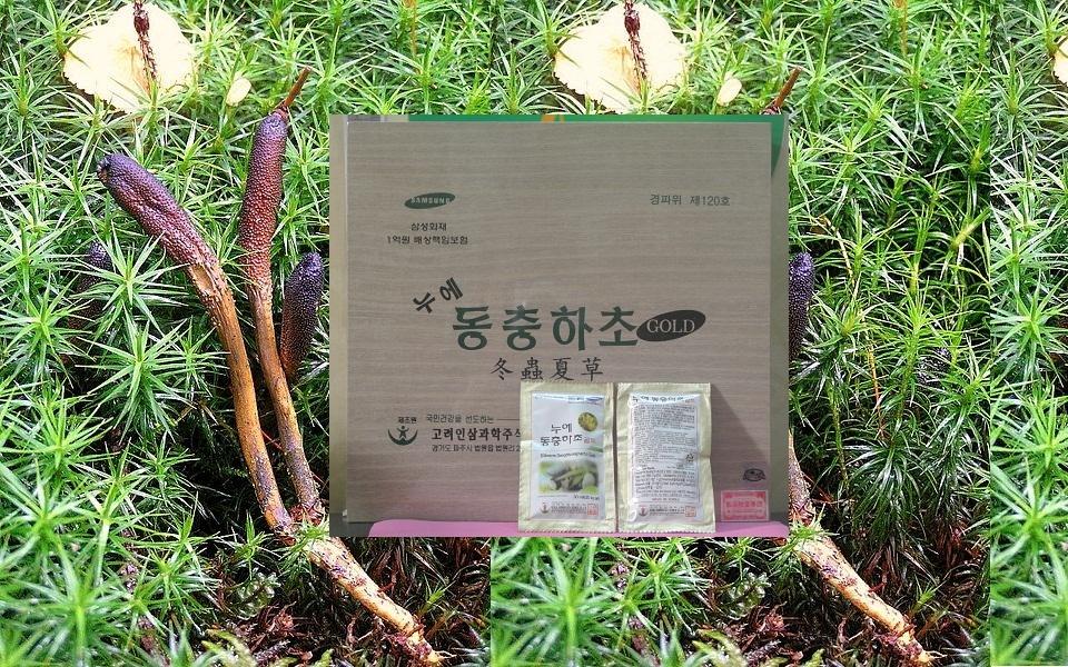 Đông trùng hạ thảo Hàn Quốc dạng nước hộp gỗ 2 tem